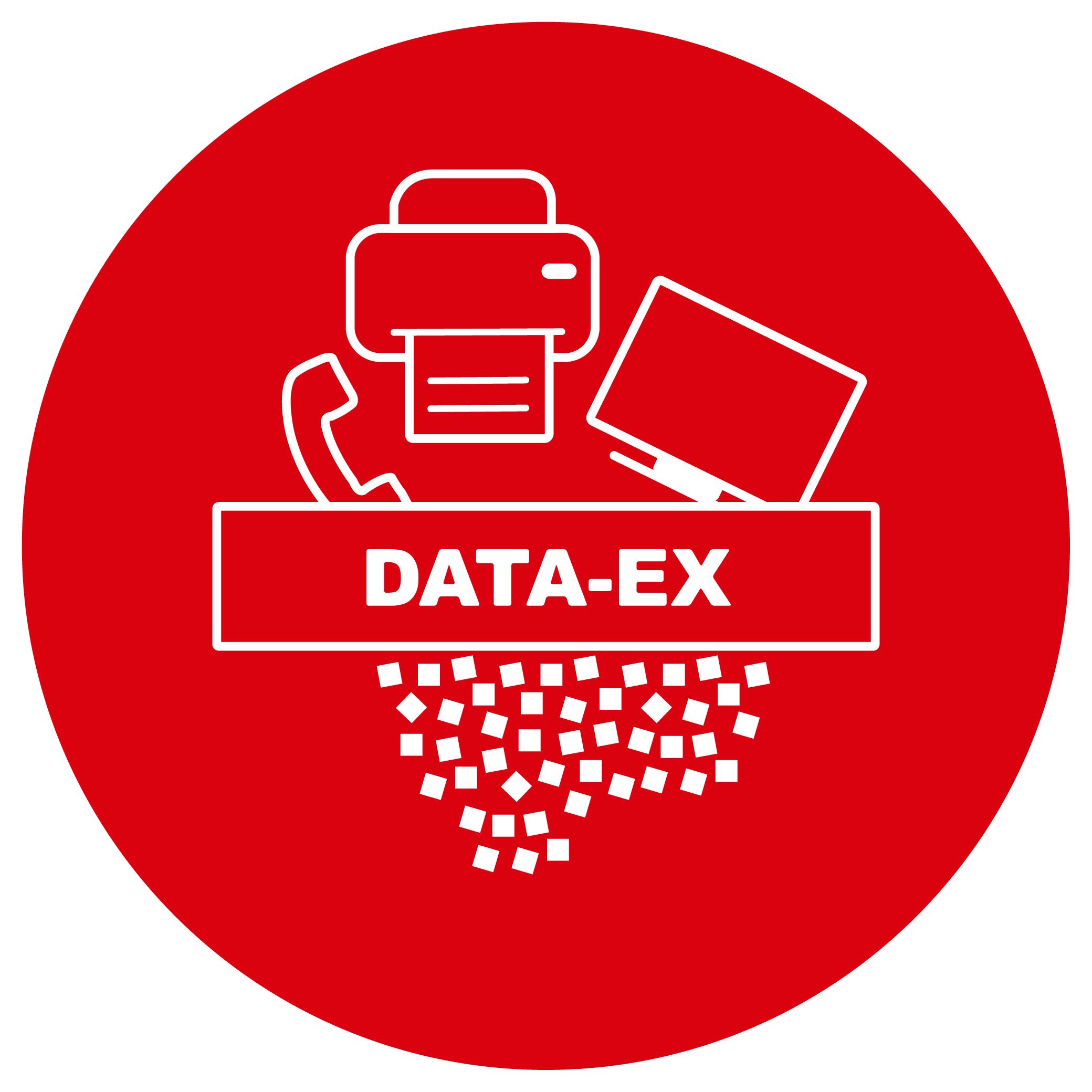 Button Vernichtung Elektroschrott DATA-EX