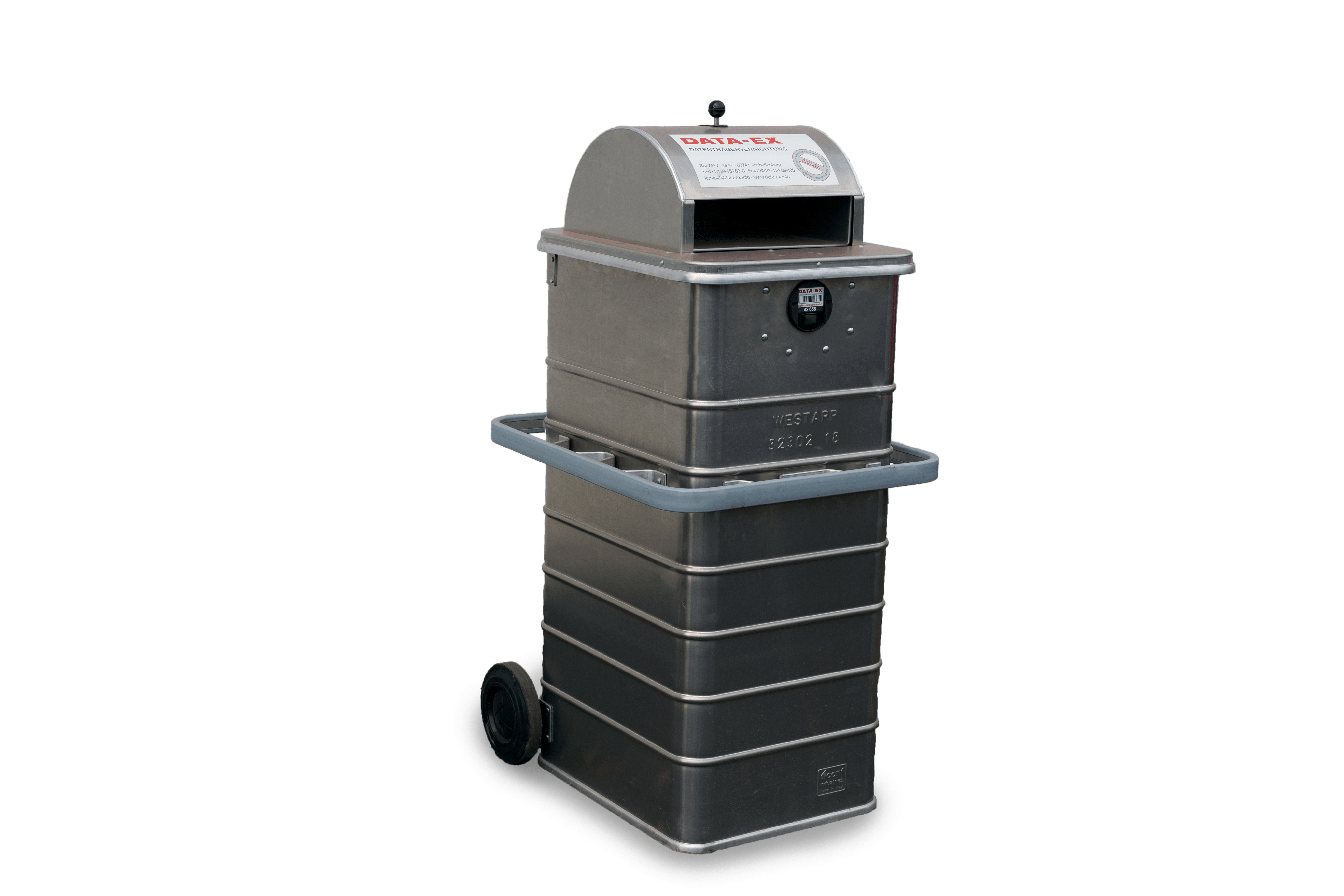 Schleusenbehälter 240 Liter Elektronisch verschließbar